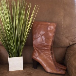 Bandolino leather cognac boots Sz 8.5
